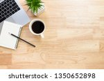 flay lay  top view office table ...   Shutterstock . vector #1350652898