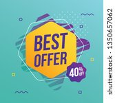 best offer abstract banner   Shutterstock .eps vector #1350657062