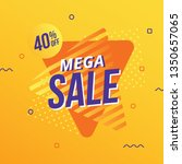 mega sale abstract banner | Shutterstock .eps vector #1350657065