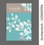floral brochure card design | Shutterstock .eps vector #135065996