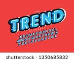 vector of stylized modern font... | Shutterstock .eps vector #1350685832