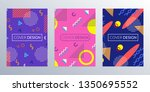 cover design template with... | Shutterstock . vector #1350695552