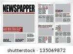 Graphical design newspaper template | Shutterstock vector #135069872