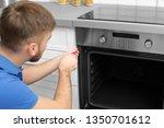 professional serviceman... | Shutterstock . vector #1350701612