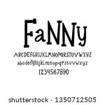vector font. cheerful and child ... | Shutterstock .eps vector #1350712505