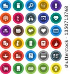 white solid icon set  scoop... | Shutterstock .eps vector #1350713768