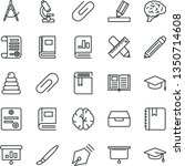 thin line vector icon set  ... | Shutterstock .eps vector #1350714608