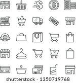thin line vector icon set  ... | Shutterstock .eps vector #1350719768