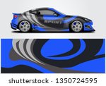 livery decal car vector  ... | Shutterstock .eps vector #1350724595