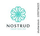 abstract flower swirl logo icon ... | Shutterstock .eps vector #1350736325