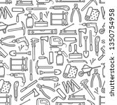 construction diy tools seamless ... | Shutterstock .eps vector #1350754958