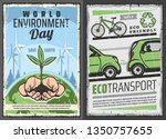 world environment or eco day... | Shutterstock .eps vector #1350757655
