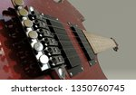 electric guitar bridge view ... | Shutterstock . vector #1350760745