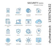 security flat line icons. set... | Shutterstock .eps vector #1350762632
