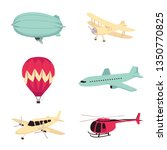vector aviation transportation... | Shutterstock .eps vector #1350770825