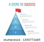 4 steps to success  infographic ...   Shutterstock .eps vector #1350772685