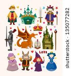 set of fairy tale element icons | Shutterstock .eps vector #135077282