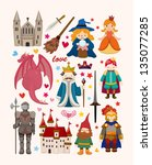 set of fairy tale element icons | Shutterstock .eps vector #135077285