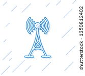 blue antenna line icon isolated ... | Shutterstock .eps vector #1350812402