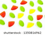 assorted colorful fruit  jelly... | Shutterstock . vector #1350816962