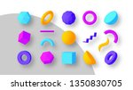 set of colorful geometric... | Shutterstock .eps vector #1350830705
