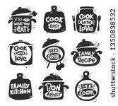 cooking inscription slogans set....   Shutterstock .eps vector #1350838532