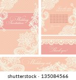set of wedding invitations and... | Shutterstock .eps vector #135084566