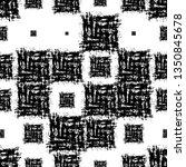 grunge ethnic seamless pattern... | Shutterstock .eps vector #1350845678