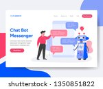 landing page template of chat... | Shutterstock .eps vector #1350851822