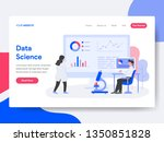 landing page template of data... | Shutterstock .eps vector #1350851828