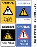 Caution Flood Ahead.sign Set...