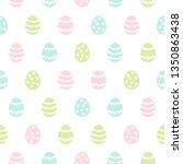simple easter seamless pattern... | Shutterstock . vector #1350863438