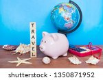 travel and holiday concept ... | Shutterstock . vector #1350871952