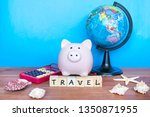 travel and holiday concept ... | Shutterstock . vector #1350871955