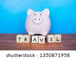 travel and holiday concept ... | Shutterstock . vector #1350871958