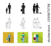 isolated object of character... | Shutterstock .eps vector #1350873758