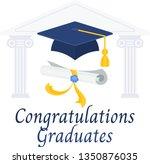 congratulations graduates... | Shutterstock .eps vector #1350876035