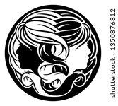 astrology horoscope zodiac... | Shutterstock .eps vector #1350876812