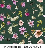 vintage old pattern with brown... | Shutterstock .eps vector #1350876935