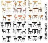 set  collection of chair and... | Shutterstock .eps vector #1350878645