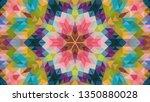 geometric design  mosaic of a... | Shutterstock .eps vector #1350880028