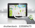 vector map illustration with... | Shutterstock .eps vector #135089675