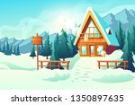 country or village cottage... | Shutterstock .eps vector #1350897635