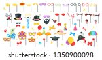 photo props or booth set ... | Shutterstock .eps vector #1350900098