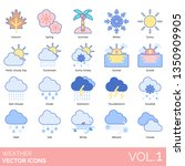 weather icons including autumn  ... | Shutterstock .eps vector #1350909905