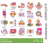 investing icons including... | Shutterstock .eps vector #1350912275