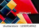 glossy mosaic style geometric...   Shutterstock .eps vector #1350914942