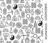 buddhism seamless pattern of... | Shutterstock .eps vector #1350925895