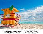 Colorful Lifeguard Tower In...