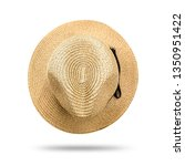 Straw Hat Isolated On White...